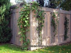 Privacy Fences for vines to grow through