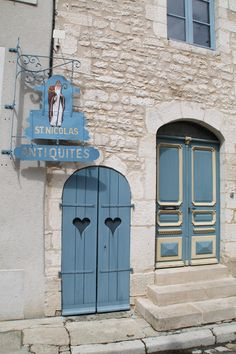 ♔ Chablis ~ France, lovely doors, hearts, carved, window, bricks, signs, steps, beautiful, lovely, doorway, portals