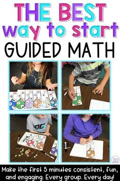 The First 5 Minutes Of Guided Math - Make it effective, engaging, fun, and consistent. Using this game at the first five minutes of guided math has really helped my kids learn and has helped me be a better teacher. Math Classroom, Kindergarten Math, Classroom Activities, Teaching Math, Noun Activities, Teaching Tools, Math Games, Teaching Ideas, Math Strategies