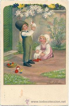 7389 - ANTIGUA POSTAL ILUSTRADA POR LA MAGNIFICA PAULI EBNER.CIRCULADA 1931 A.G.B Nº 2486A - (Postales - Dibujos y Caricaturas)