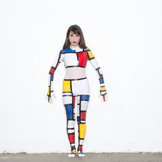 from american apparel we cant get enough of our mondrian girl for halloween aahalloween great costume ideascute