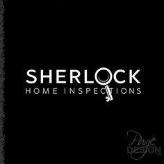 Logo design for Sherlock Home Inspections, Tauranga, NZ #Logo #logodesign #sherlockinspired #homeinspections
