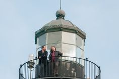 Dave and Steve at the Point Pinos Lighthouse in Pacific Grove, California