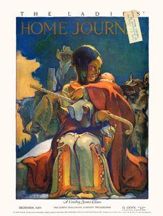 Ladies' Home Journal  -  Dec 1921  Illustration by Samuel Nelson Abbott