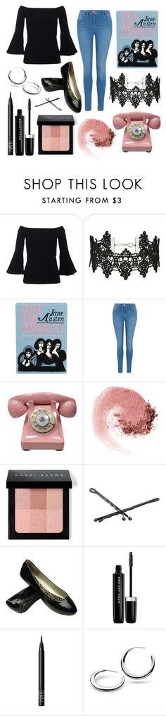 """""""62"""" by hwoodruff ❤ liked on Polyvore featuring Miss Selfridge, Olympia Le-Tan, George, NARS Cosmetics, Bobbi Brown Cosmetics, Goody, Marc Jacobs and Kit Heath"""