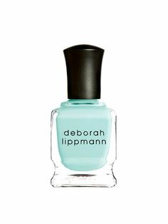 Layer two coats of Deborah Lippmann nail polish in Flowers in Her Hair for a streak-free, minty green manicure that looks as fresh as it sounds
