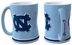 North Carolina Tar Heels Coffee Mug - 14oz Sculpted Relief - New UPC