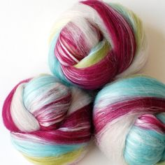 apollo Tussah Silk/Merino Wool Handcarded Batts by gigglejelly, $20.20