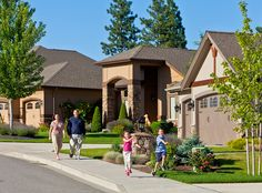 Homes in Eagle Ridge Spokane fit your lifestyle. 5 acre park with playground, disc golf, climbing wall and movies in the Summer!