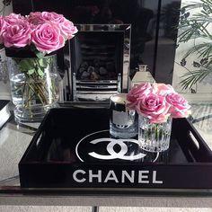 Black & white Chanel tray: