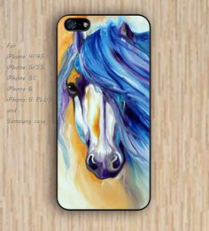 iPhone 6 case watercolor horse iphone case,ipod case,samsung galaxy case available plastic rubber case waterproof B053
