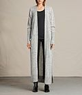 "Crafted from a lightweight mohair blend, the Maia cardigan is a full maxi length, slightly sheer and perfect for layering over spring outfits. Designed with slouchy slot pockets and side splits, this oversized knit is a firm favourite in our new collection. Open edge-to-edge front.Dropped shoulders.2 slot pockets.Ribbed trims.Side splits.Textured mohair blend.Lightweight knit with loose tension. SIZE & FIT  Oversize fit.Full length.Model is 5'10"" / 177cm, size M.See our size..."