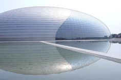 National Grand Theater of China. This is going in two places, here and in my places to go...another extraordinary use of glass.