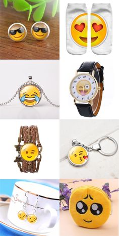 Show how you feel with this hot trending Emoji Jewelry! On sale for a limited time, Buy 3 Get 1 FREE!