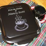 Personalized engraved cake pans