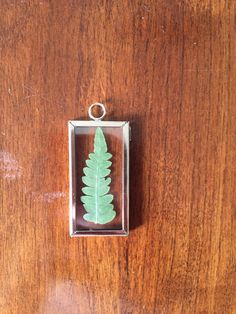 Mountain Fern Botanical Necklace Pressed by GlassHouseCollection