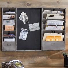 You'll love the Industrial Mail Sorter Chalkboard at AllModern - With Great Deals on modern Décor  products and Free Shipping on most stuff, even the big stuff.
