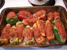 Recipe for Stuffed Banana Peppers Veggie Recipes, Mexican Food Recipes, Real Food Recipes, Healthy Recipes, Simple Recipes, Drink Recipes, Recipes With Banana Peppers, Stuffed Banana Peppers, Summer Recipes