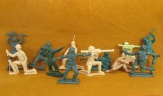 Toy Soldiers Plastic Soldier Figures Dozen by FindingMaineVintage