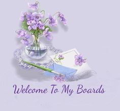 Welcome to my Pinterest Boards! No Pin Limits here. Enjoy your stay. And you're welcome to come back anytime. #purple #flowers #pretty