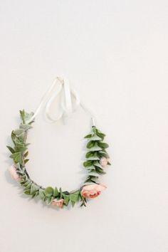 Light Green Succulent+Salmon Peach Flower Crown