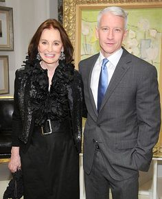 Anderson Cooper comes from a wealthy family, but the CNN anchor is a self-made man. As he explained to Howard Stern on Stern's radio show Monday, his mother, Gloria Vanderbilt, told him early on he wasn't getting an inheritance. Gloria Vanderbilt, Cornelius Vanderbilt, Marlon Brando, Anderson Cooper Mother, Carter Cooper, Portraits, High Society, Celebrity News, Celebrity Couples