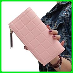 TOPUNDER Women Leather Clutch Wallet Long Card Holder Case Purse Handbag PK - Wallets (*Amazon Partner-Link)