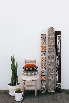Les tapis Pampa de couleurs neutres, inspirés par les paysages secs et désertiques