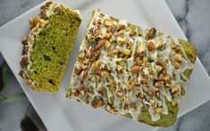 <p>This cake has good-for-you ingredients like pistachios and spinach, is easy-to-make, doesn't require any fancy devices, and looks absolutely beautiful! </p>
