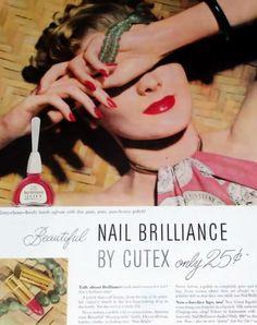 Vintage nail polish ad.