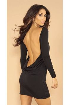 Awesome Black backless dresses review