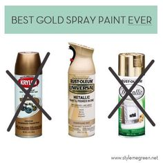 Ideas painting furniture gold Ideas painting furniture gold spray Looking to go gold with the fixtures in your home? I'm sharing the best gold spray paint and spray paint tips in this post. Best Gold Spray Paint, Spray Paint Colors, Diy Spray Paint, Metallic Spray Paint, Gold Paint, Spray Painting Metal, Spray Paint Projects, Spray Paint Furniture Without Sanding, Spray Paint Frames