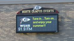 Full color outdoor RGB display for Sachem North high school. The display is 8 modules x 3 modules, 20mm pixel pitch, Total display resolution 128 x 48 and communicates via TCP/IP.