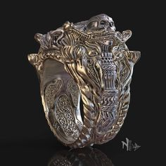 Jewelry design I made with zbrush: Famine Ring by nello.design