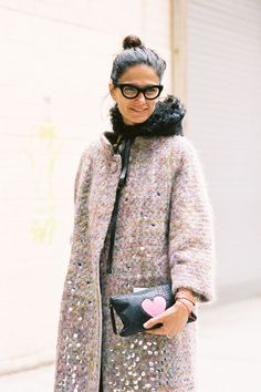 Pastel & Black with heart 4 winter #fashion