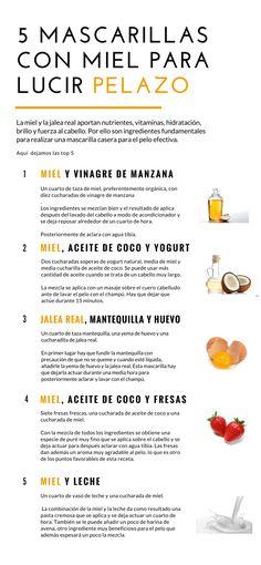 La miel tiene propiedades que lo hacen un ingrediente esencial en las mascarillas para el cabello. | mascarillas para el cabello seco - mascarillas para el cabello crecer - mascarillas caseras para el cabello. #mascarilla #remedioscaseros