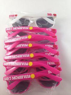 Personalized Wayfarer Sunglasses: Beach, Favor, Bachelorette Party, Bachelor Party, Spring Break gift