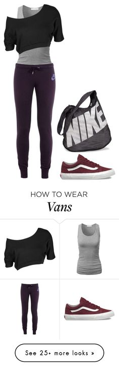 nike shoes Dance class by charlotteh2001 on Polyvore featuring NIKE and Vans