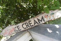 Ice  CReaM painted sign