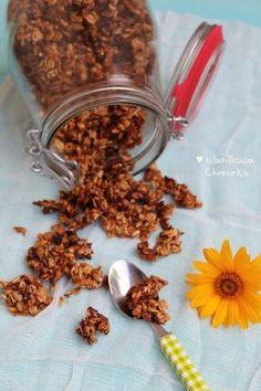 Waniliowa Chmurka: Domowa granola- najlepsza ♥3♥ Granola, Almond, Lunch Box, Food And Drink, Cooking Recipes, Breakfast, Fit, Morning Coffee, Shape