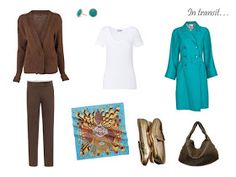 Packing: brown and turquoise