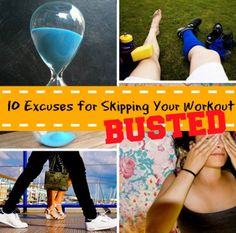 Bust your common workout excuses! #noexcuses