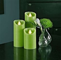 ReaLite flameless candles: these candles look SO REAL... super safe for pets and babies.