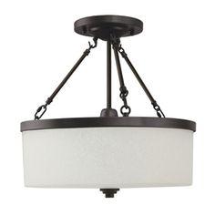 Good Earth Lighting 16-7/8-in Semi-Flush Mount Light LOWES $50