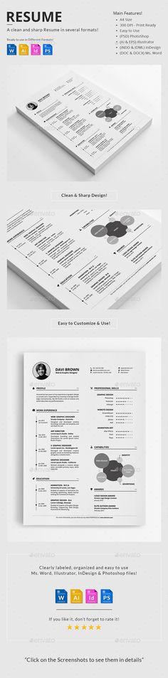 Simple Resume Vol 2 Pinterest Simple resume, Template and Resume cv