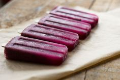 Blueberry and Honey Wellness Pops for Kids