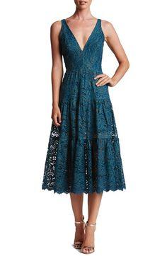 Main Image - Dress the Population Madelyn Lace Midi Dress