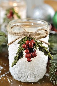 Pretty Christmas Decor and Ornaments You Can Make Yourself via @PureWow