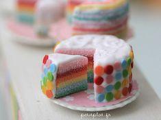 Miniature Food - Pastel Rainbow Cake by PetitPlat - Stephanie Kilgast, via Flickr