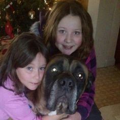 My baby girls and puppy